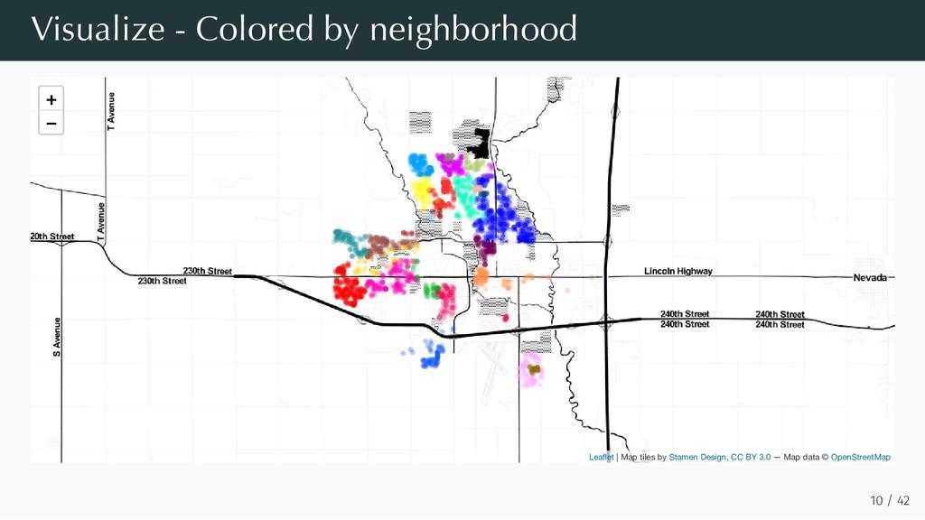 Visualize - Colored by neighborhood 10 / 42 + −...