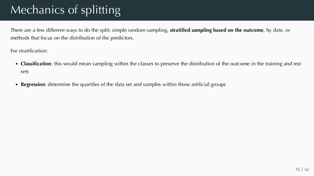 Mechanics of splitting There are a few differen...