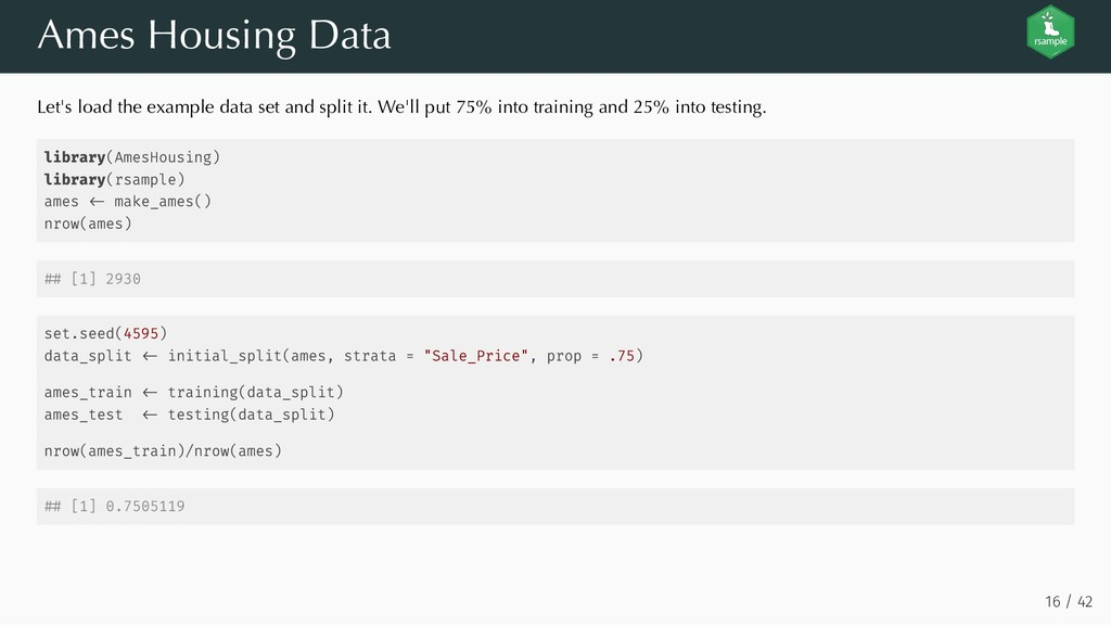 Ames Housing Data Let's load the example data s...