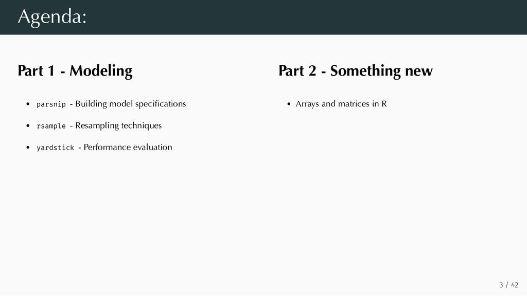 Part 1 - Modeling parsnip - Building model spec...