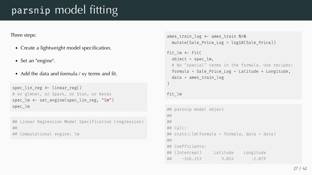 Three steps: Create a lightweight model specific...
