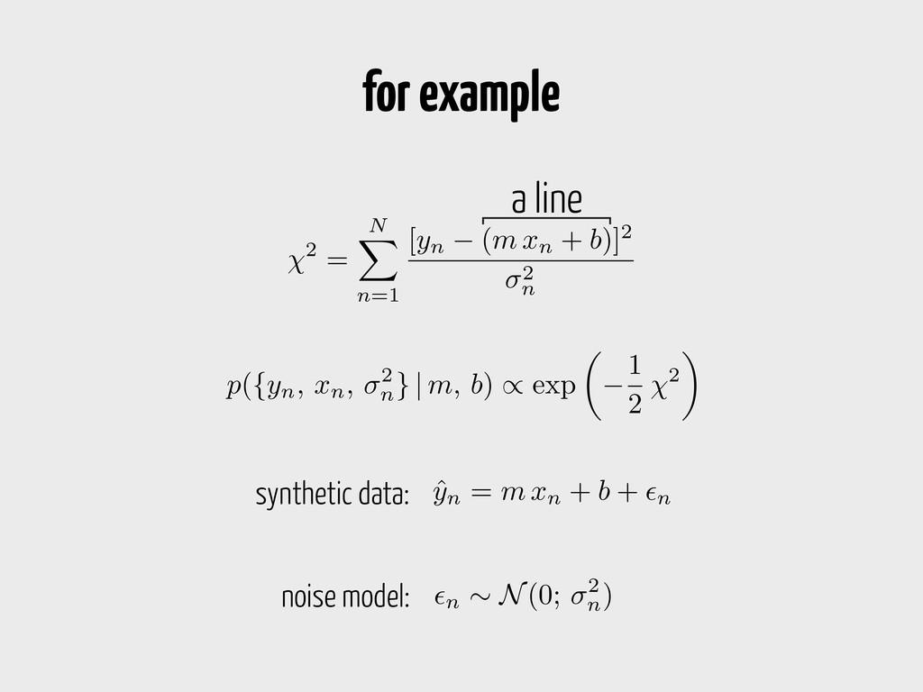 2 = N X n=1 [ yn ( m xn + b )]2 2 n a line ˆ yn...