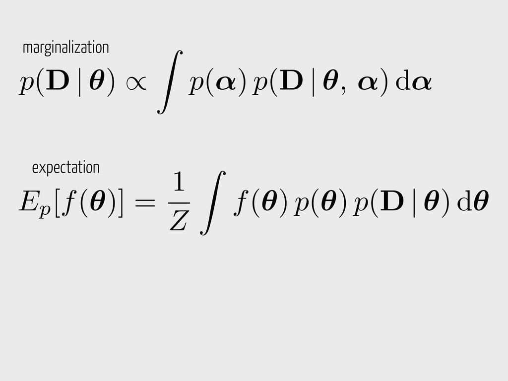 Ep[f(✓)] = 1 Z Z f(✓) p(✓) p(D   ✓) d✓ p(D   ✓)...