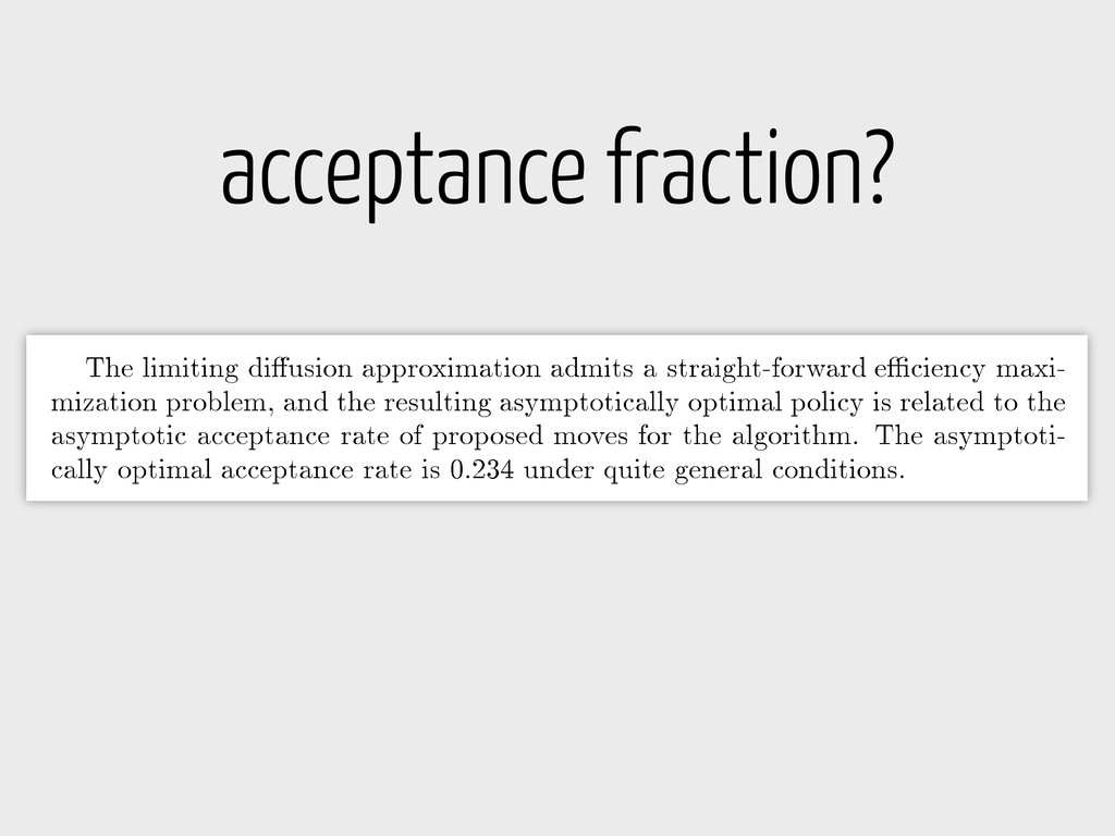acceptance fraction?