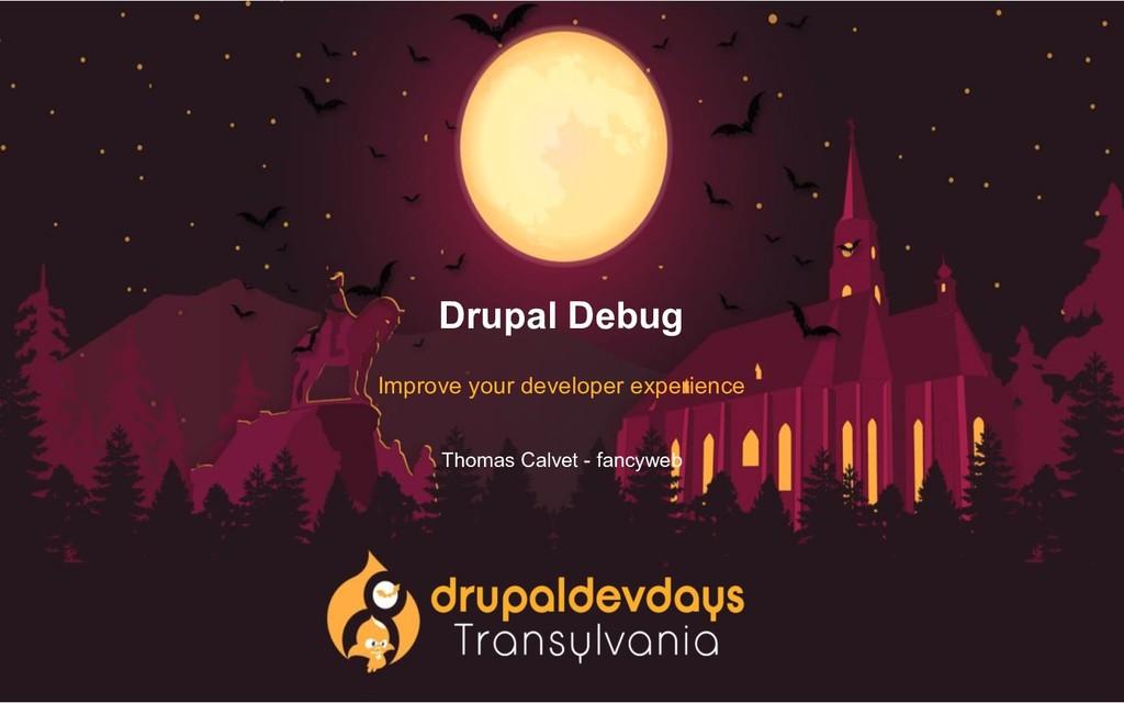 Drupal Debug Improve your developer experience ...