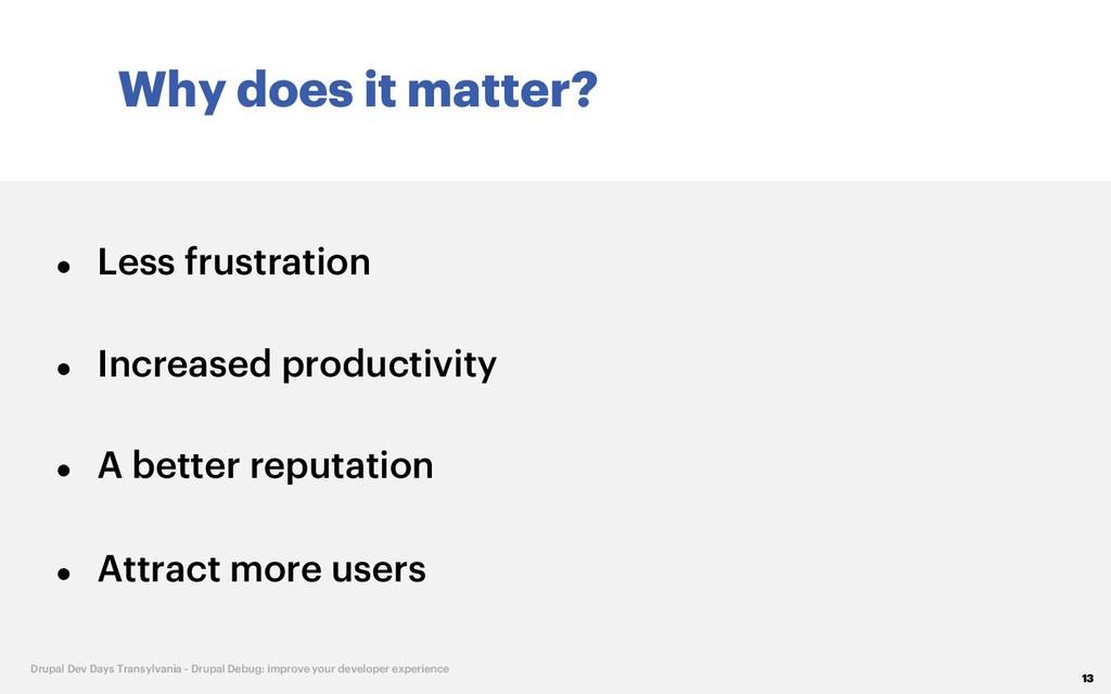 Why does it matter? 13 Drupal Dev Days Transylv...