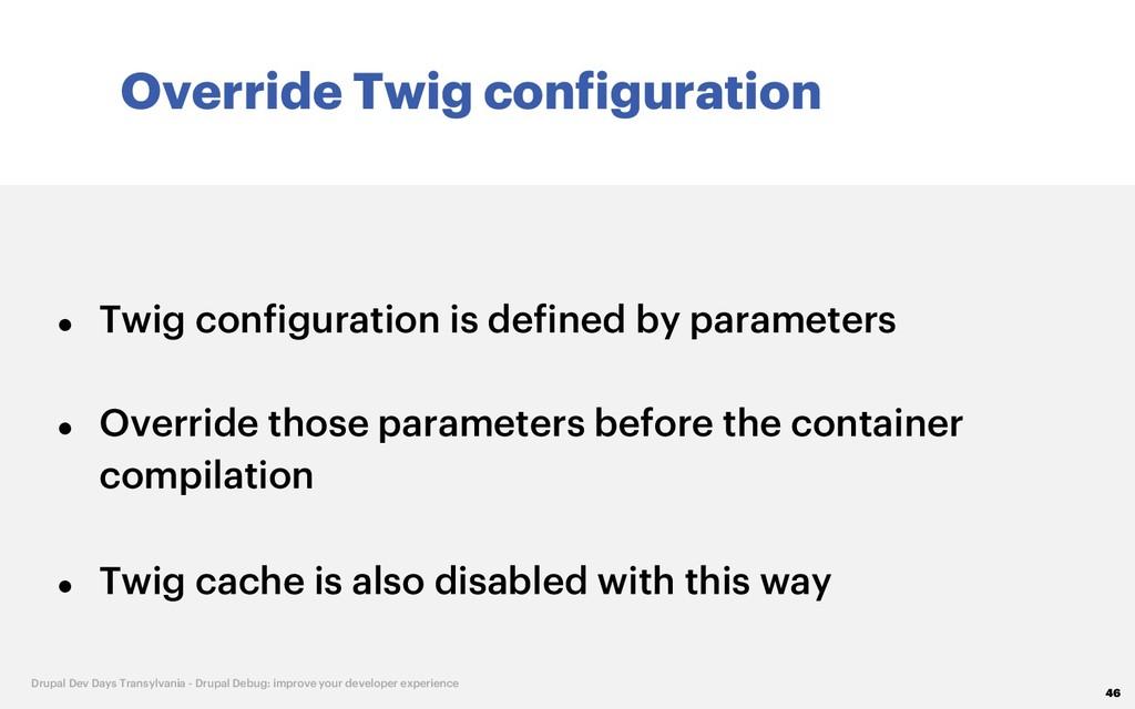 Override Twig configuration 46 Drupal Dev Days ...