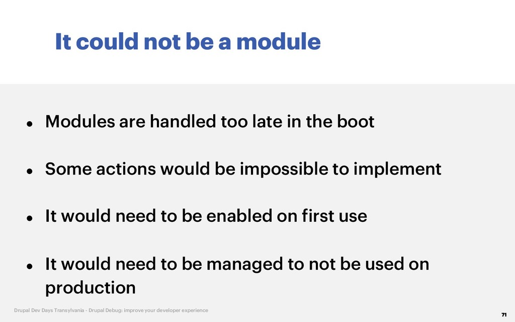 It could not be a module 71 Drupal Dev Days Tra...