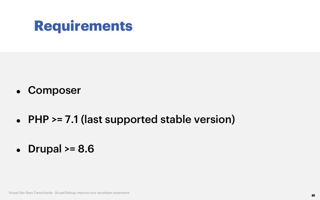 Requirements 81 Drupal Dev Days Transylvania - ...