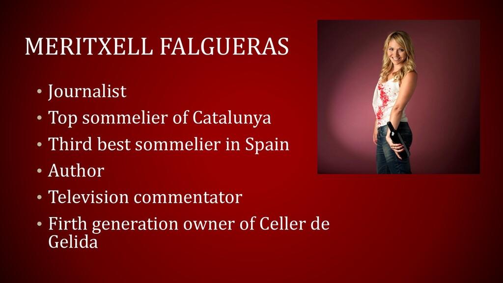 MERITXELL FALGUERAS • Journalist • Top sommelie...