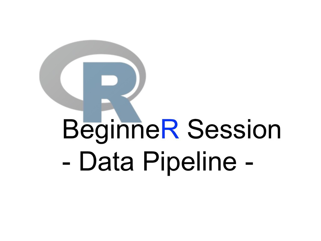 BeginneR Session - Data Pipeline -