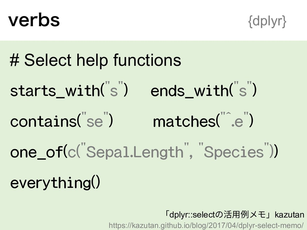 WFSCT {dplyr} # Select help functions starts_wi...