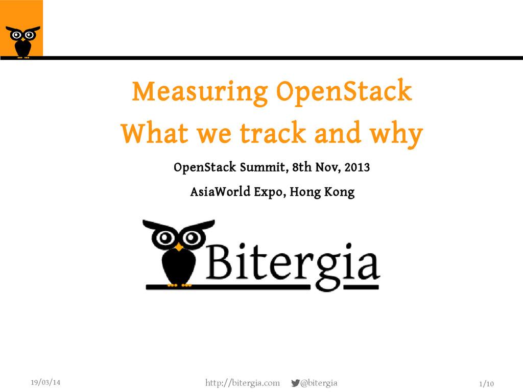 1/10 19/03/14 http://bitergia.com @bitergia Mea...