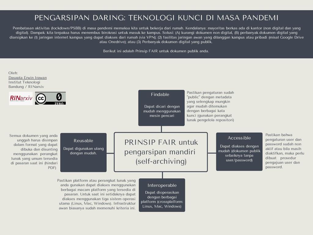 PRINSIP FAIR untuk pengarsipan mandiri (self-ar...