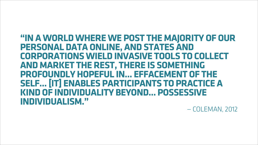 """IN A WORLD WHERE WE POST THE MAJORITY OF OUR P..."