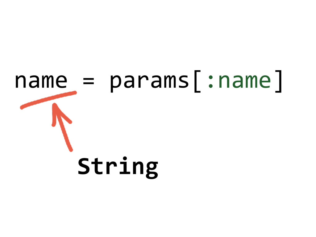 name = params[:name] String