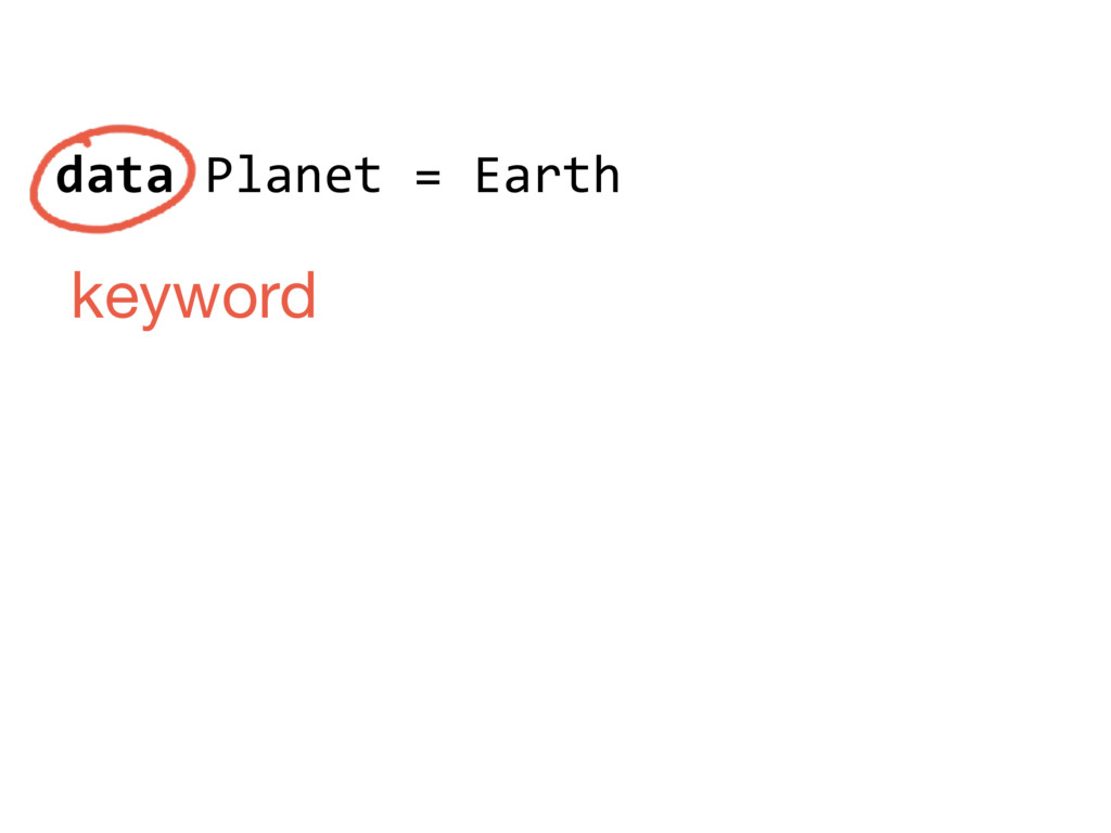 data Planet = Earth keyword
