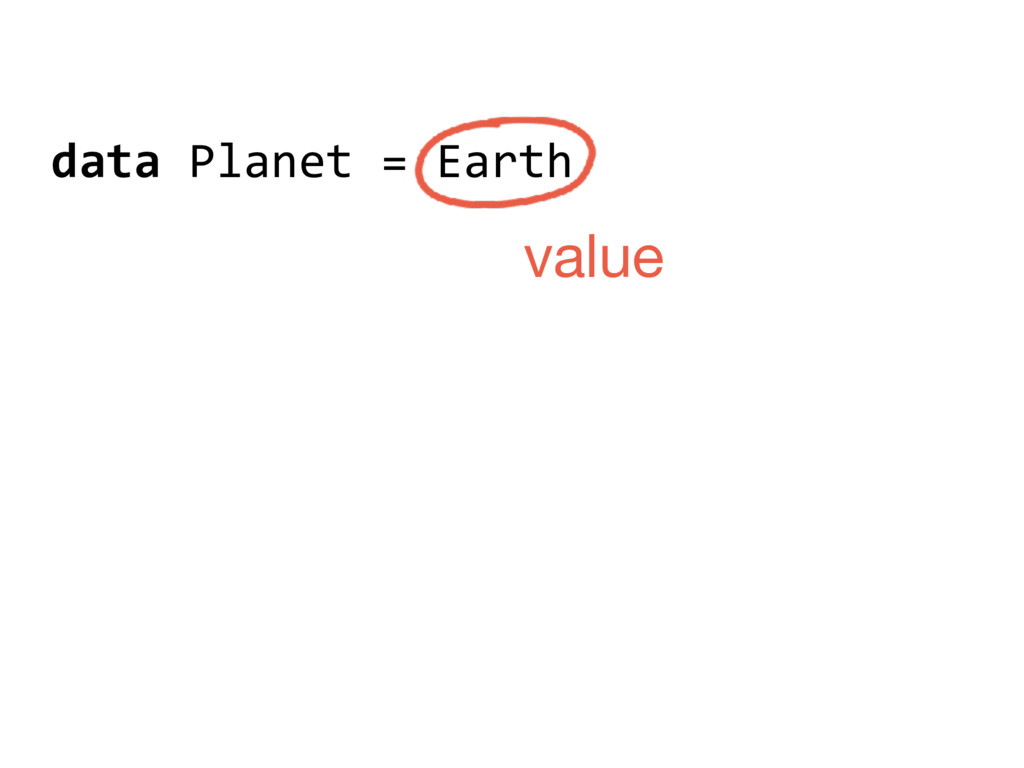 data Planet = Earth value