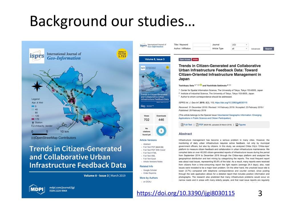Background our studies… 3 https://doi.org/10.33...