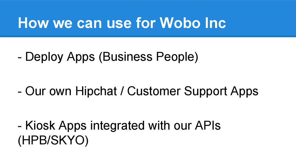 How we can use for Wobo Inc - Deploy Apps (Busi...
