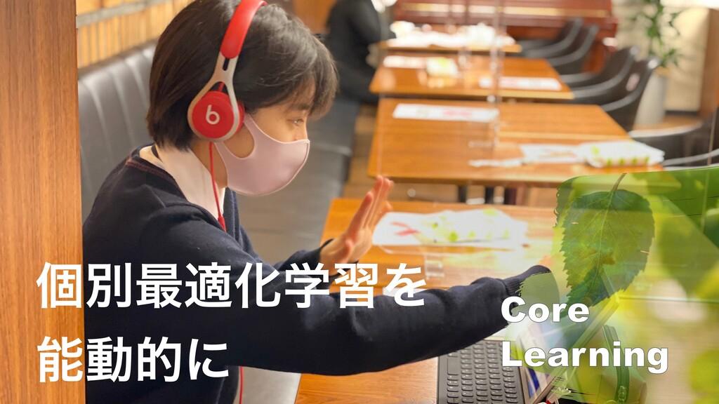 ݸผ࠷దԽֶशΛ ಈతʹ Core   Learning