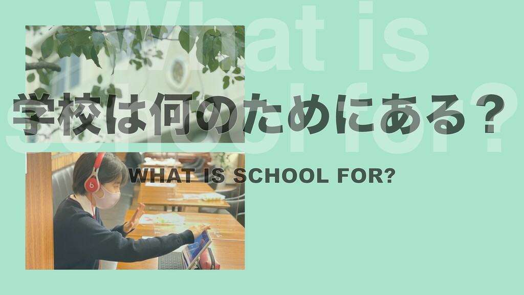 ֶߍԿͷͨΊʹ͋Δʁ s  school for?
