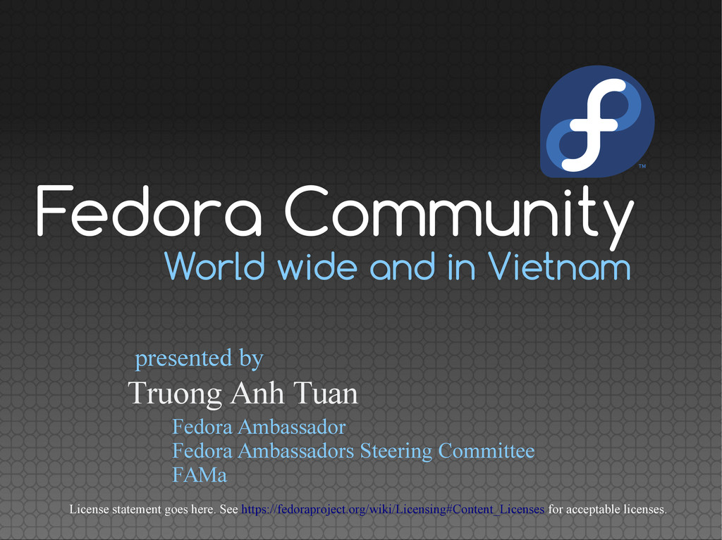 World wide and in Vietnam Truong Anh Tuan prese...