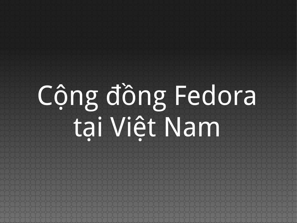 Cộng đồng Fedora tại Việt Nam