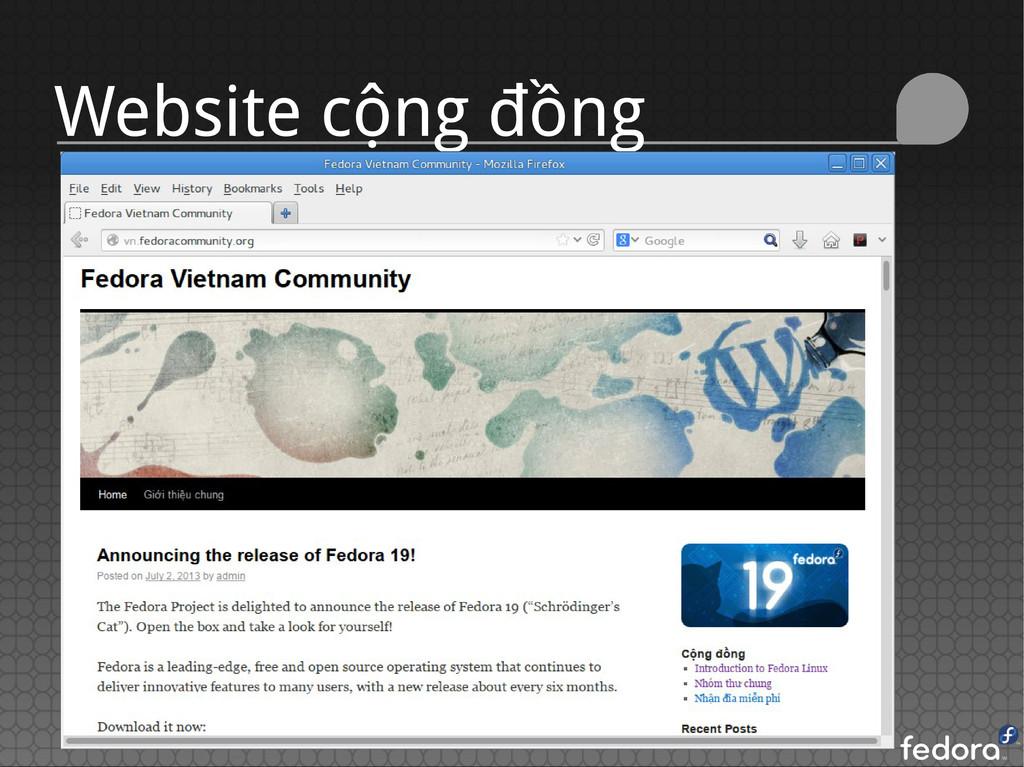 Website cộng đồng