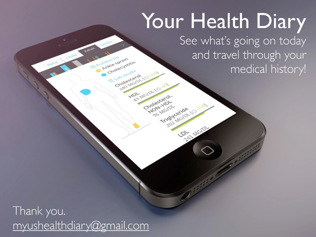 Your Health Diary See what's going on today and...