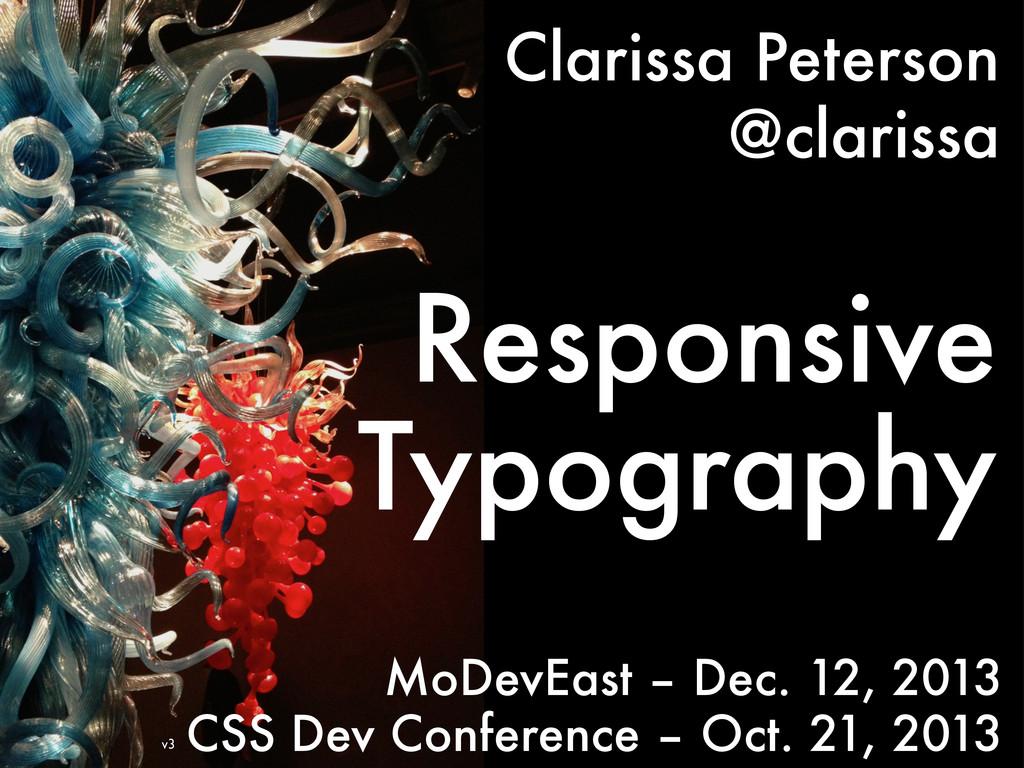 Clarissa Peterson @clarissa Responsive Typograp...