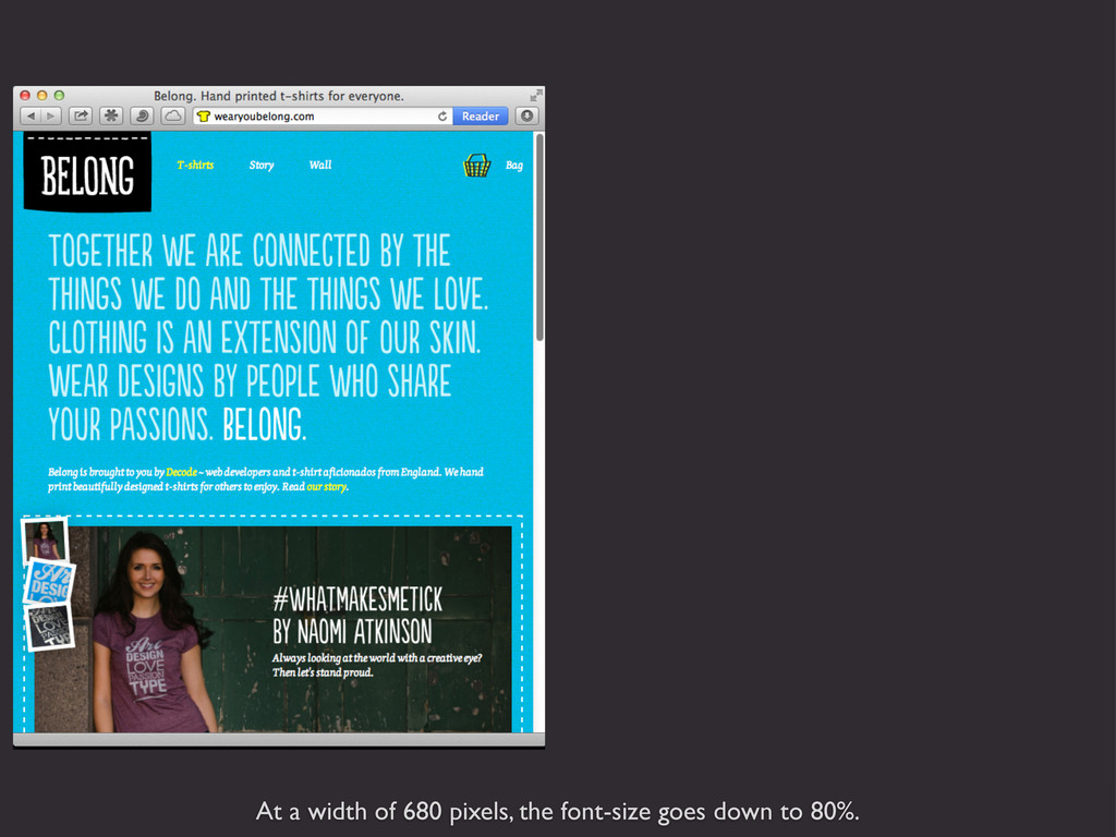 At a width of 680 pixels, the font-size goes do...
