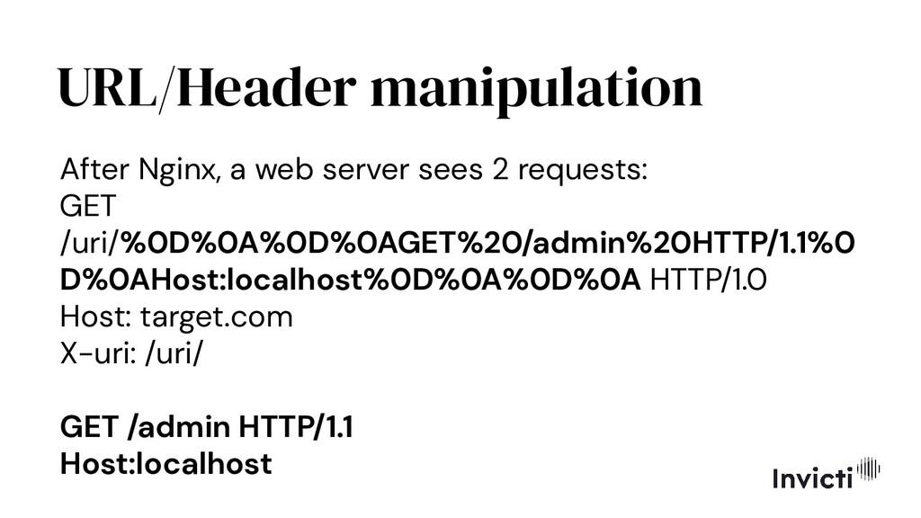 URL/Header manipulation After Nginx, a web serv...