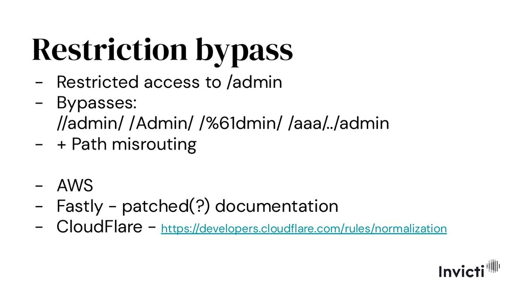 Restriction bypass - Restricted access to /admi...
