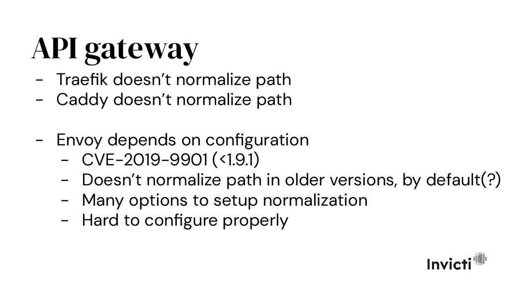 API gateway - Traefik doesn't normalize path - C...