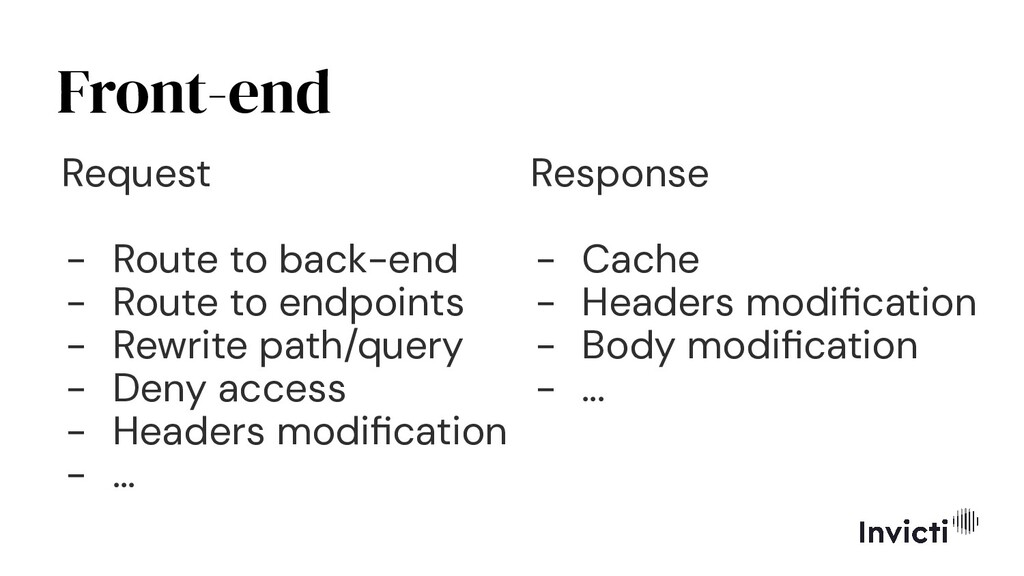 Front-end Request - Route to back-end - Route t...