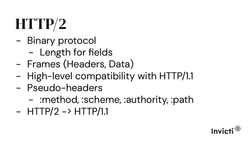 HTTP/2 - Binary protocol - Length for fields - F...
