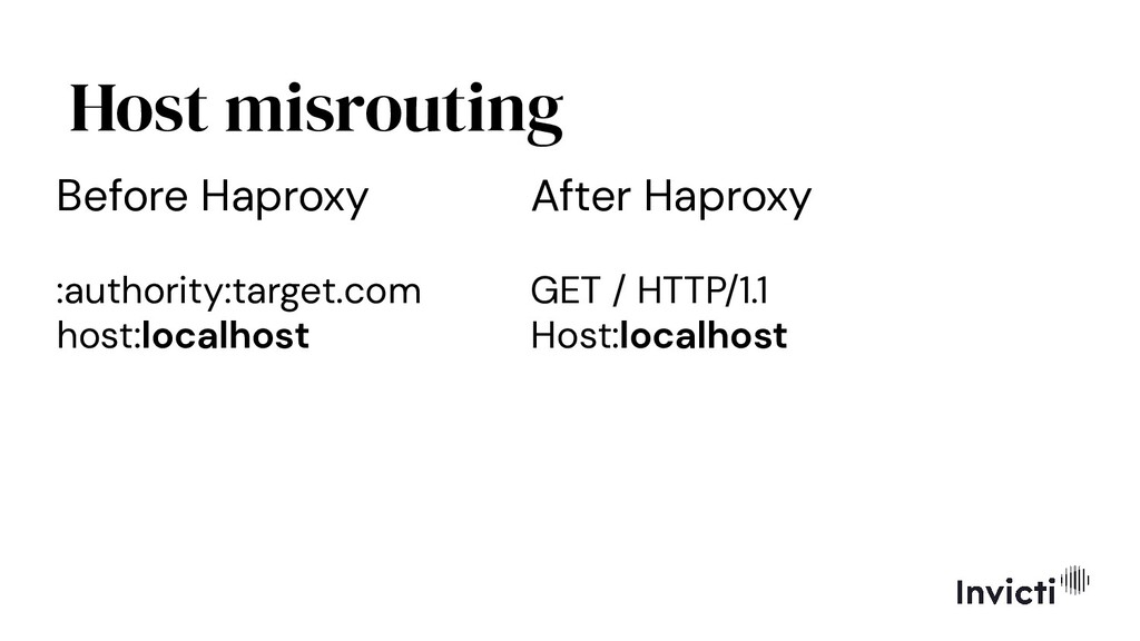 Host misrouting Before Haproxy :authority:targe...