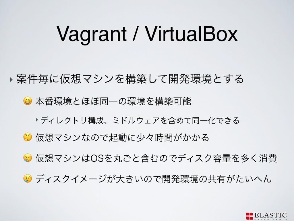 Vagrant / VirtualBox ‣ Ҋ݅ຖʹԾϚγϯΛߏஙͯ͠։ൃڥͱ͢Δ ...