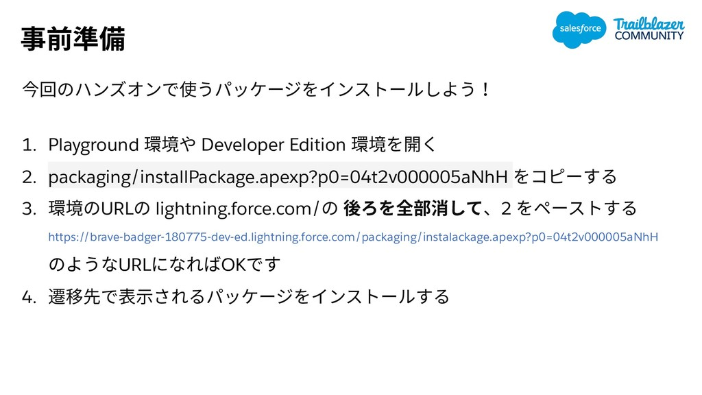 1. Playground Developer Edition 2. packaging/in...