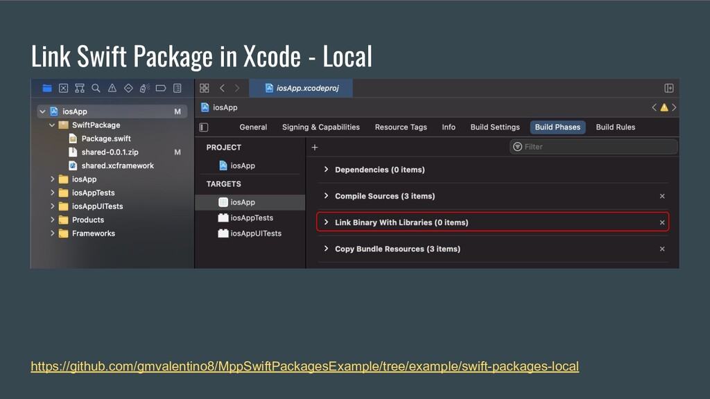 Link Swift Package in Xcode - Local https://git...