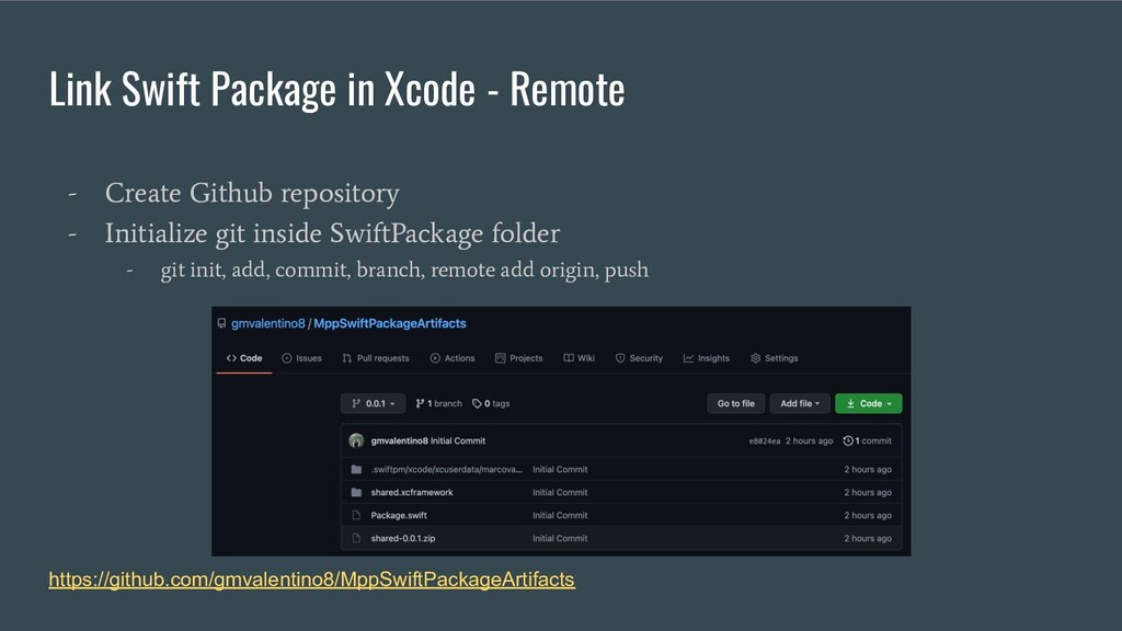 Link Swift Package in Xcode - Remote - Create G...