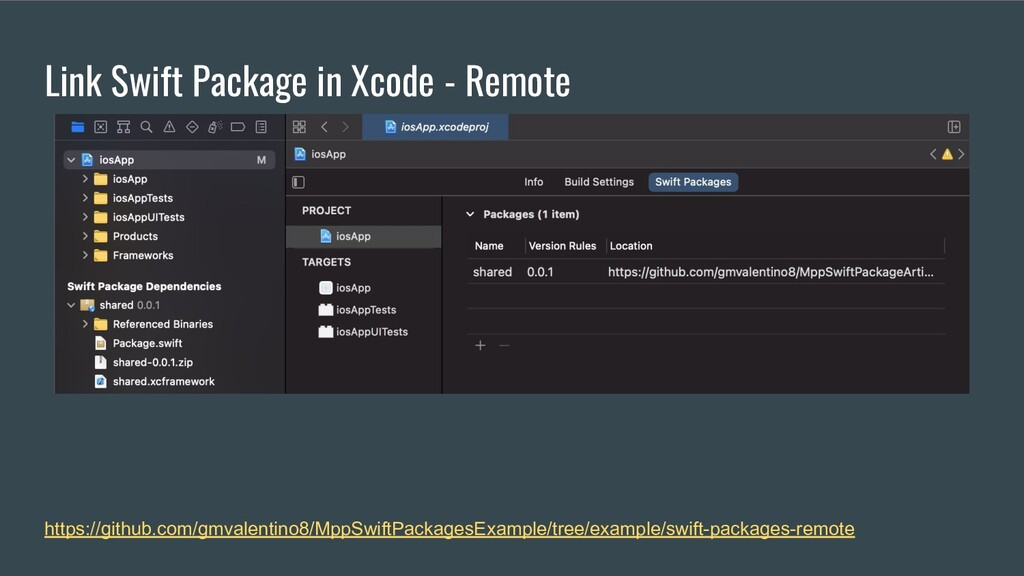 Link Swift Package in Xcode - Remote https://gi...