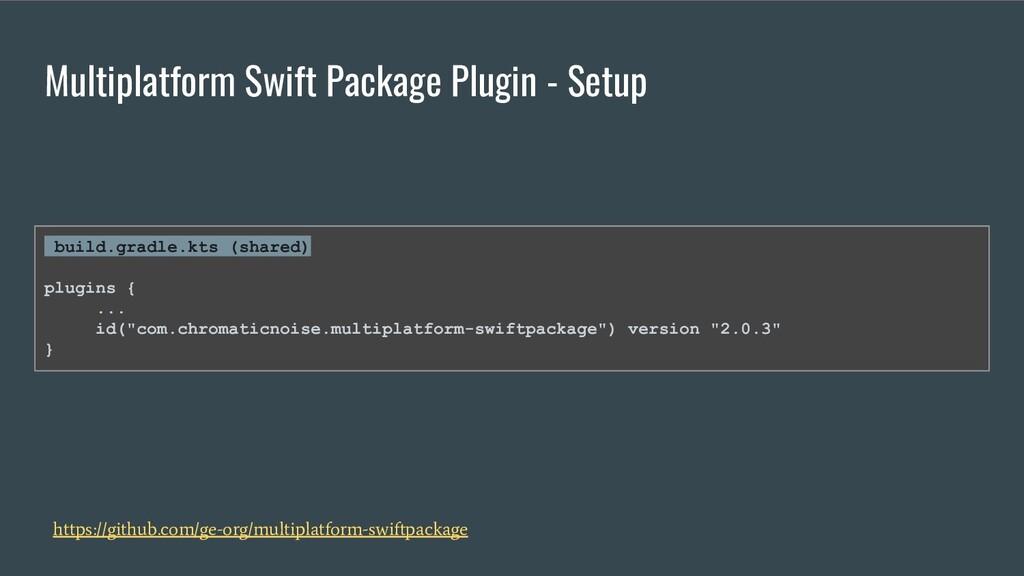 Multiplatform Swift Package Plugin - Setup http...