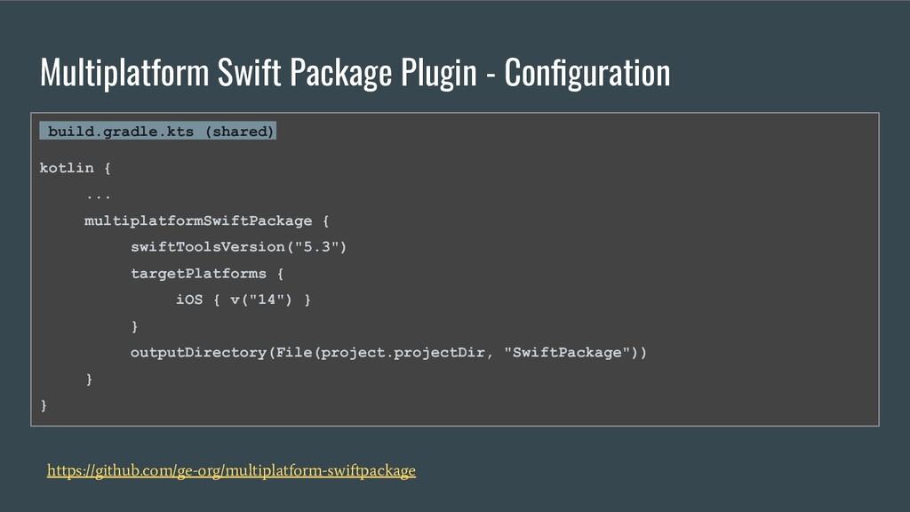 Multiplatform Swift Package Plugin - Configurati...