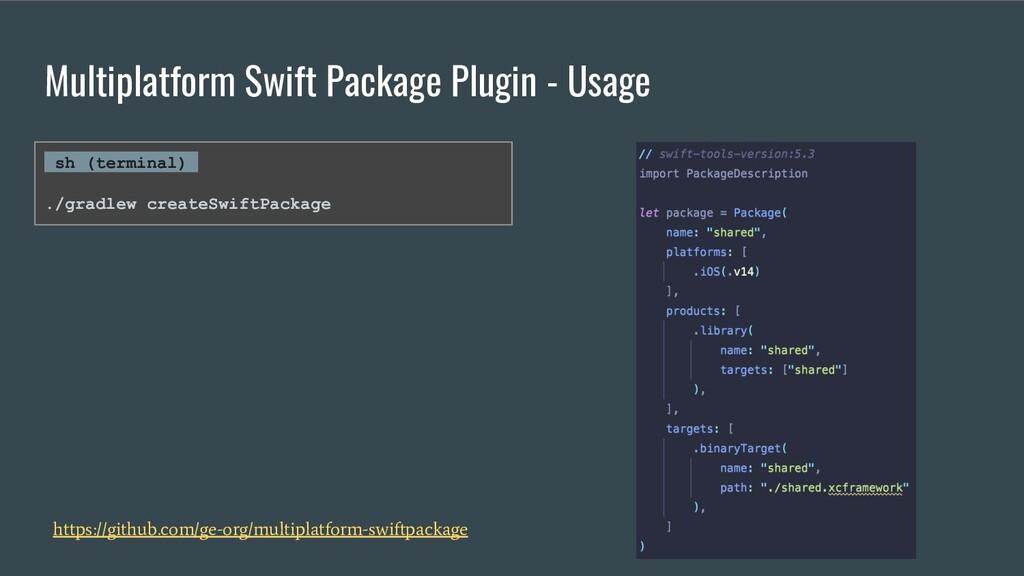 Multiplatform Swift Package Plugin - Usage http...