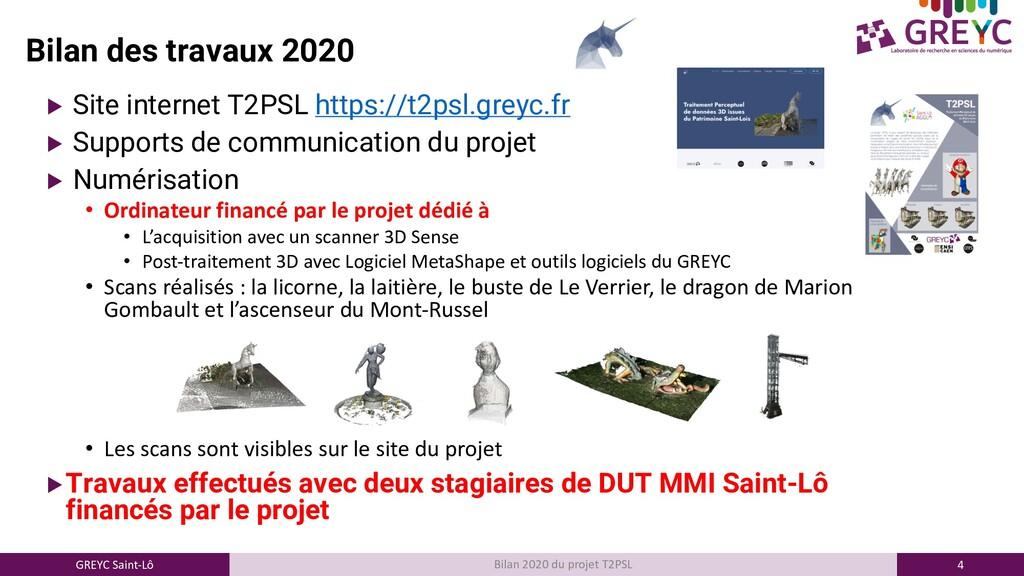 4 GREYC Saint-Lô Bilan 2020 du projet T2PSL Bil...