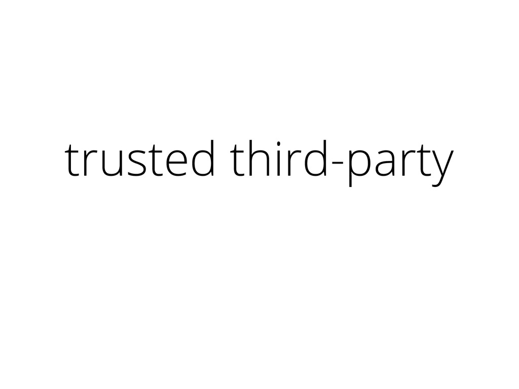 trusted third-party certificate authority