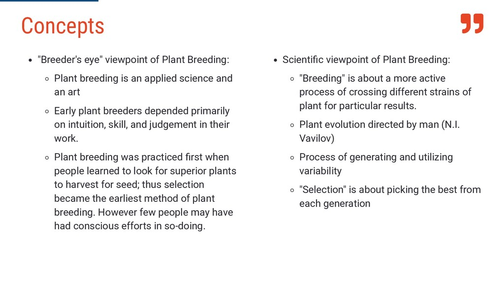 " ""Breeder's eye"" viewpoint of Plant Breeding: ..."