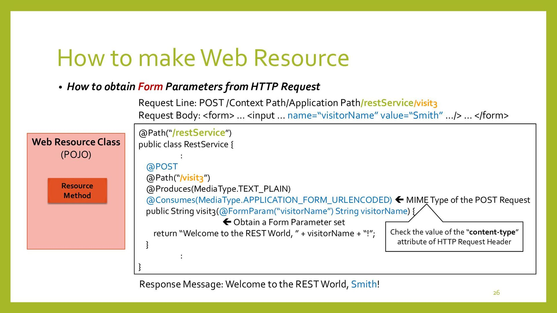 How to make Web Resource • How to obtain JSON S...